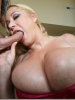 Samantha 38g gets her big ass titties covered in spunk
